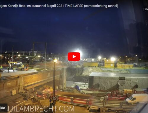 Stationsproject Kortrijk fiets- en bustunnel 8 april 2021 TIME-LAPSE (camerarichting tunnel)