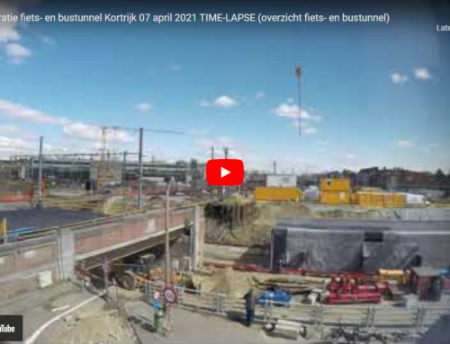 Stationsproject Kortrijk fiets- en bustunnel 7 april 2021 TIME-LAPSE (camerarichting tunnel)